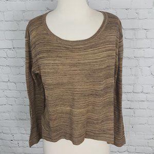 Zara Knit Brown Long Sleeve Top sz M